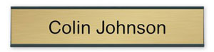 Large selection of custom nameplates for wall, door or hallway. Choose plate color, font style and size. Low Prices and fast shipping