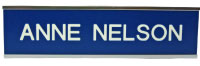 Large selection of nameplates for door, wall, hallway. Choose plate color, font style and custom text. Low Prices and Fast Shipping