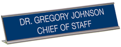 Order your custom Desk Name Plates Today and Save. Choose Plate Color and Font Style. Low Prices