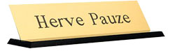 Order your custom Desk Signs and Nameplates. Choose Plate Color and Font Style. Low Prices