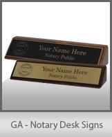 GA - Notary Desk Signs