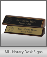 MI - Notary Desk Signs