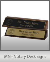MN - Notary Desk Signs
