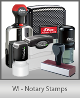 WI - Notary Stamps