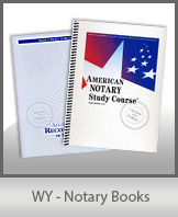 WY - Notary Books