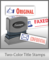 Two-Color Title Stamps