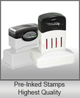 PRE-INKED STAMPS<br/>Highest Qualilty