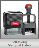 SELF-INKING STAMPS and DATERS