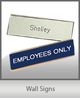 Wall Name Plates | Engraved Plastic Signs