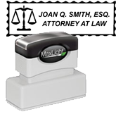 Attorney Stamp Scales<br>Pre-Inked XL-185