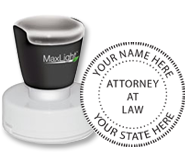 XL-535 Pre-Inked Attorney Stamp