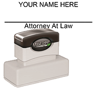 XL-185 Pre-Inked Attorney Stamp Signature
