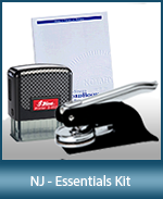 This affordable notary supply kit for New Jersey contains the essentials required notary stamps.