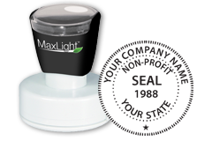 Order your non-profit corporate seal stamp today and save. Customized with company or business name. Low Prices