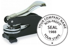 Order your non-profit seal stamps today and save. Customized with Company Name. Low Prices