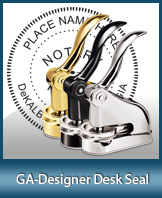 This quality, affordable hand-held notary seal for Georgia can be purchased right here.