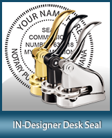 This quality, affordable hand-held notary seal for Indiana can be purchased right here.