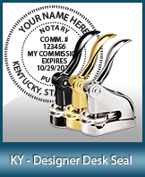 This quality, affordable hand-held notary seal for Kentucky can be purchased right here.
