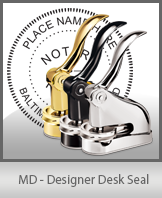 This quality, affordable hand-held notary seal for Maryland can be purchased right here.