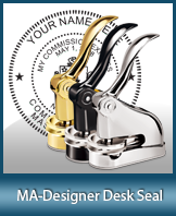 This quality, affordable hand-held notary seal for Massachusetts can be purchased right here.