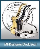 This quality, affordable hand-held notary seal for Michigan can be purchased right here.