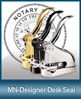 This quality, affordable hand-held notary seal for Minnesota can be purchased right here.