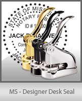 This quality, affordable hand-held notary seal for Mississippi can be purchased right here.