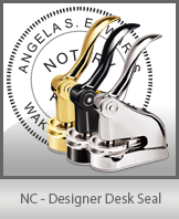 This quality, affordable hand-held notary seal for North Carolina can be purchased right here.