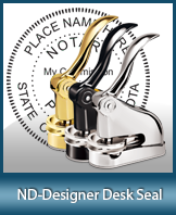 This quality, affordable hand-held notary seal for North Dakota can be purchased right here.