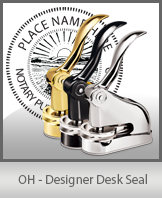 This quality, affordable hand-held notary seal for Ohio can be purchased right here.