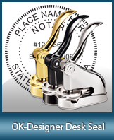 This quality, affordable hand-held notary seal for Oklahoma can be purchased right here.