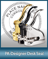 This quality, affordable hand-held notary seal for Pennsylvania can be purchased right here.