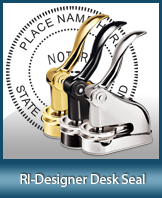 This quality, affordable hand-held notary seal for Rhode Island can be purchased right here.
