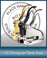 This quality, affordable hand-held notary seal for South Dakota can be purchased right here.