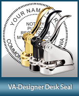 This quality, affordable hand-held notary seal for Virginia can be purchased right here.