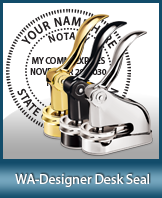 This quality, affordable hand-held notary seal for Washington can be purchased right here.