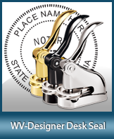 This quality, affordable hand-held notary seal for West Virginia can be purchased right here.