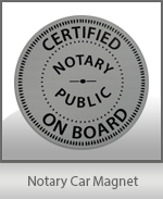 Notary Car Magnet