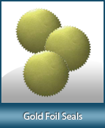 These Gold Notary Foil Labels make your seal impression look very distinguished. Affordably priced and always in stock!