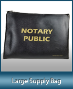 This convenient Large Notary Supply Bag can hold all your notary stamps, notary seals and notary items.