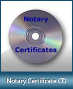 Notary Certificates on a CD. No more purchasing refill pads, just buy here once.