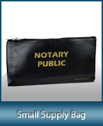 This compact notary supply bag will hold your notary seal and notary stamp.