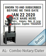 Alabama Notary Combination Date Stamp