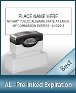 The Highest quality notary commission stamp for Alabama.