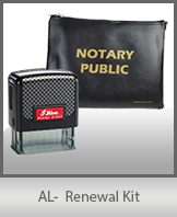 A notary supply kit designed for renewing notaries of Alabama.