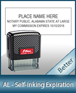 This durable, quality Notary commission stamp for Alabama is available right here. Fast shipping!