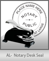 This sturdy Alabama Notary Desk Seal is made of steel construction and built to last.