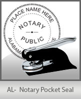 This quality, affordable hand-held notary seal for Alabama can be purchased right here.