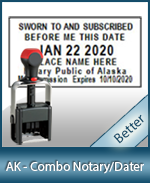 DATER-AK - Alaska Notary Combination Date Stamp