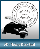 This sturdy Alaska Notary Desk Seal is made of steel construction and built to last.